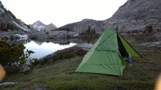 camp after Mather pass