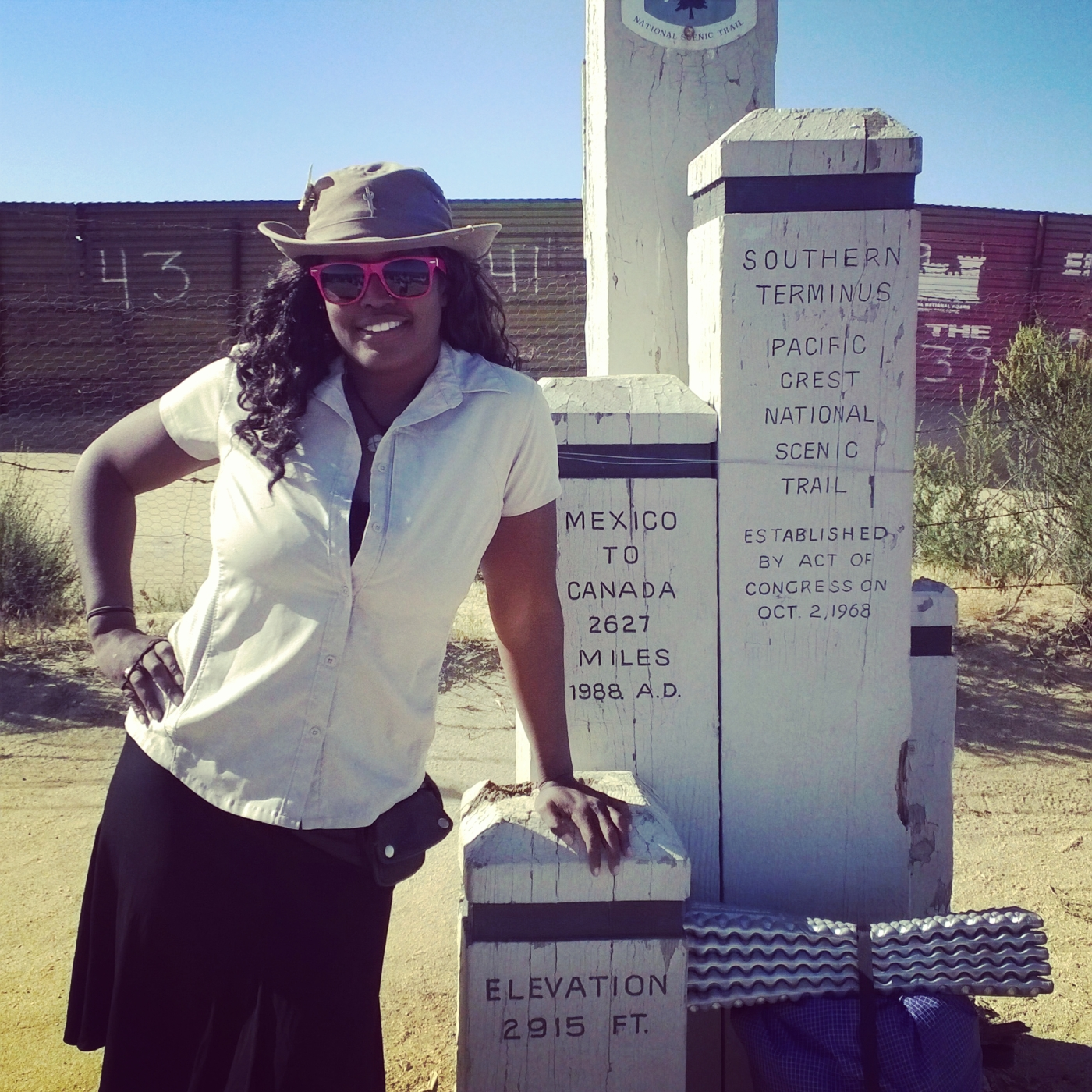 African American hiking the Pacific Crest Trail