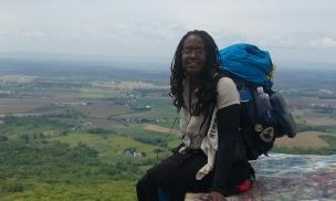 African American hiker