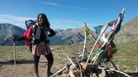 African American woman CDT hiker
