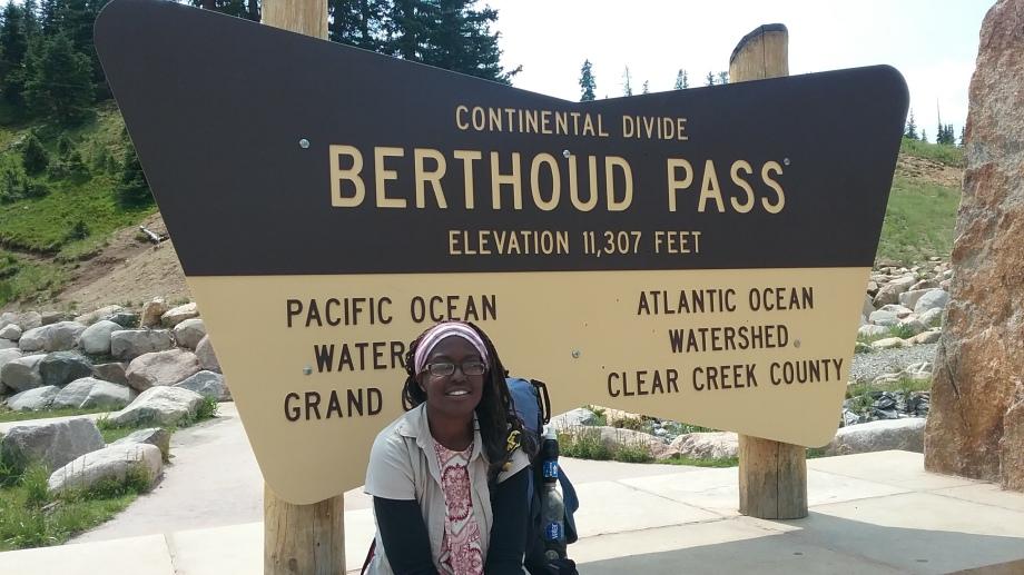 African American woman thru hiker
