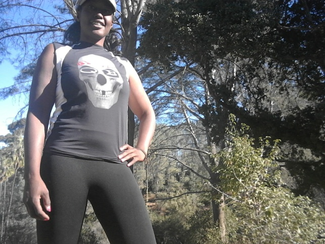 African American woman hiker