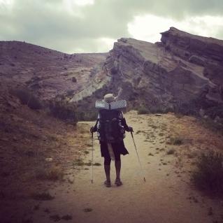Hiking through Vasquez rocks