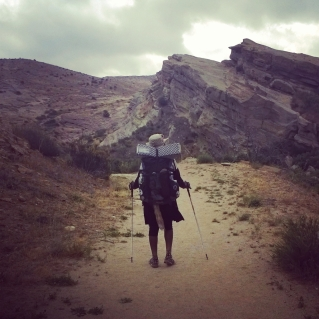 Hiking through Vasquez rocks